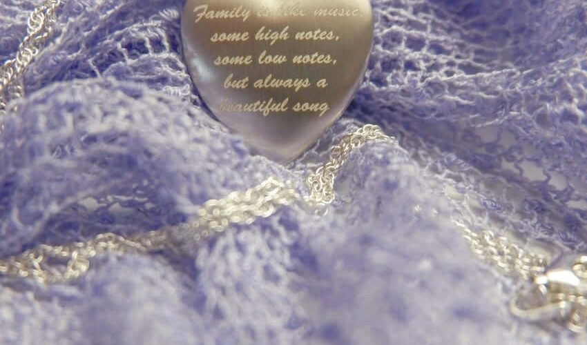 Pictures On Gold Sterling Silver Heart Locket Gift