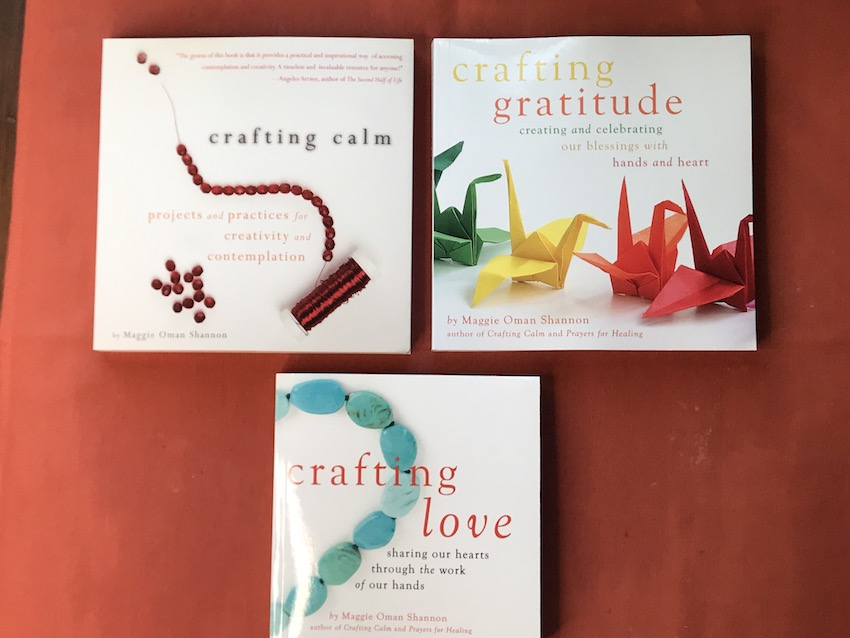 Crafting Love spiritual practices craft book by Maggie Shannon