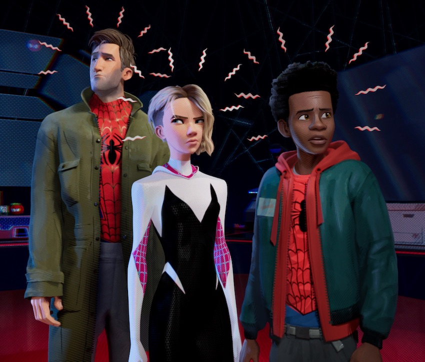 Spider-Man Into the Spider-Verse Characters: Real Spider-Man, Spider-Gwen and Myles Morales