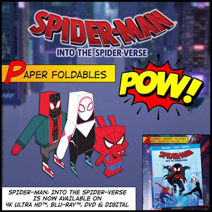 Spider-Man Into the Spider-Verse FREE Printable Crafts