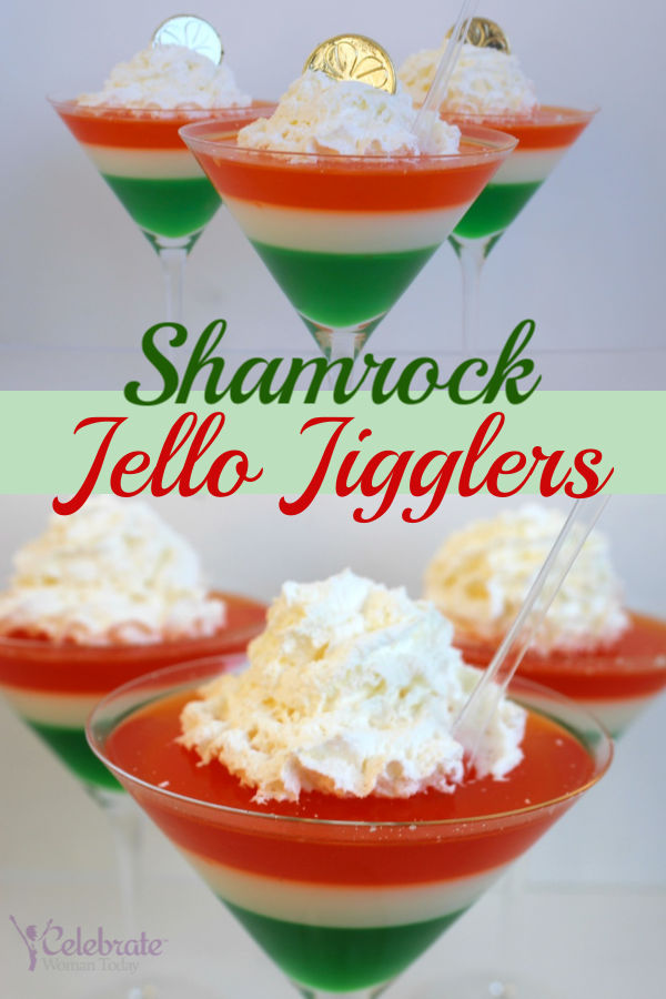 St Patricks Layered Jello Jigglers Jello Snacks