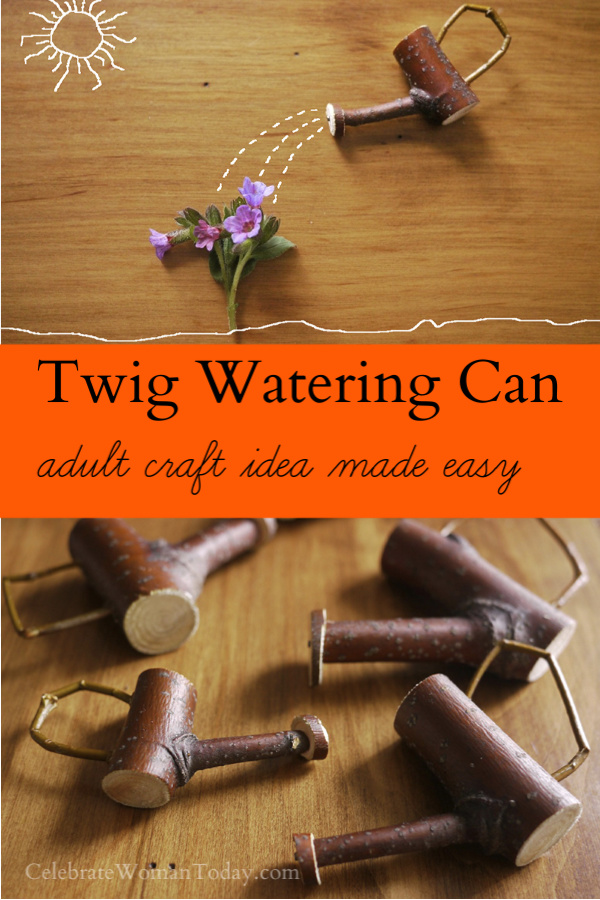Twig Watering Can Adult Craft Idea Made Easy