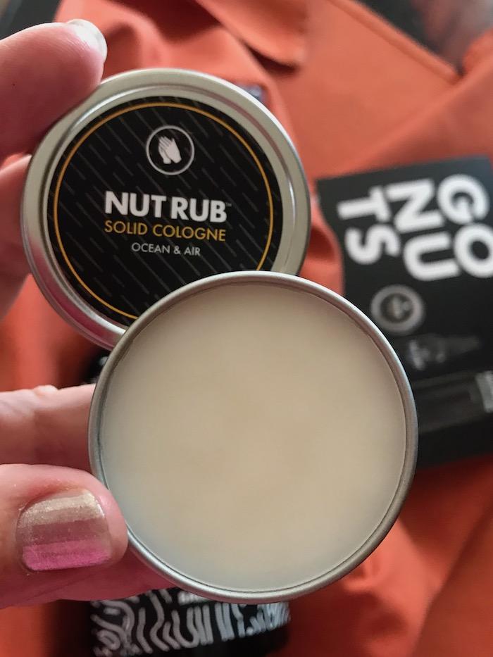 Ballwash Nut Rub solid cologne for men