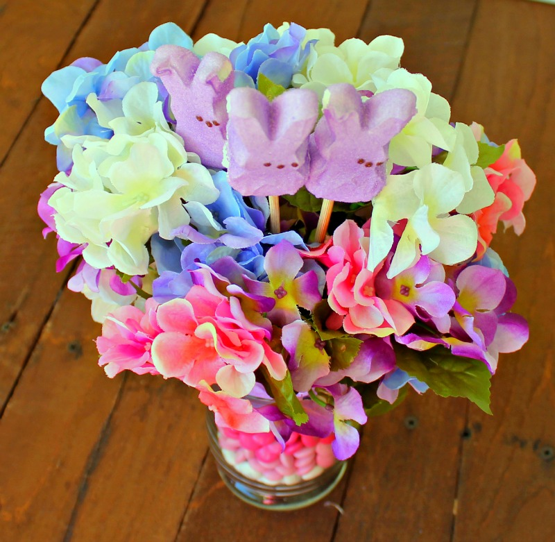 Easter Peeps Centerpiece flowers