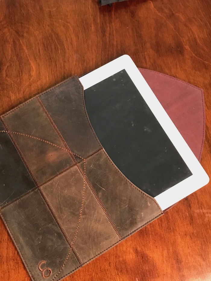 Leather folio case for iPad or your notebook on Fathers Day