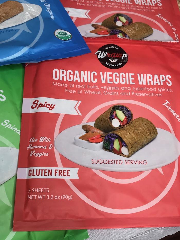 Organic Veggie Wraps are gluten free