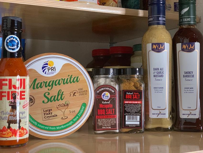 New Zealand BBQ Salt and Sauces