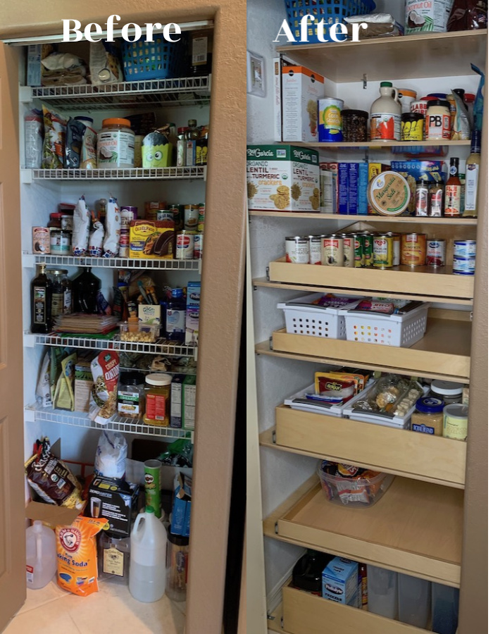 Kitchen organization begins with pantry