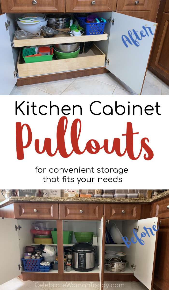 Kitchen cabinet pullouts for convenient storage that fits your needs