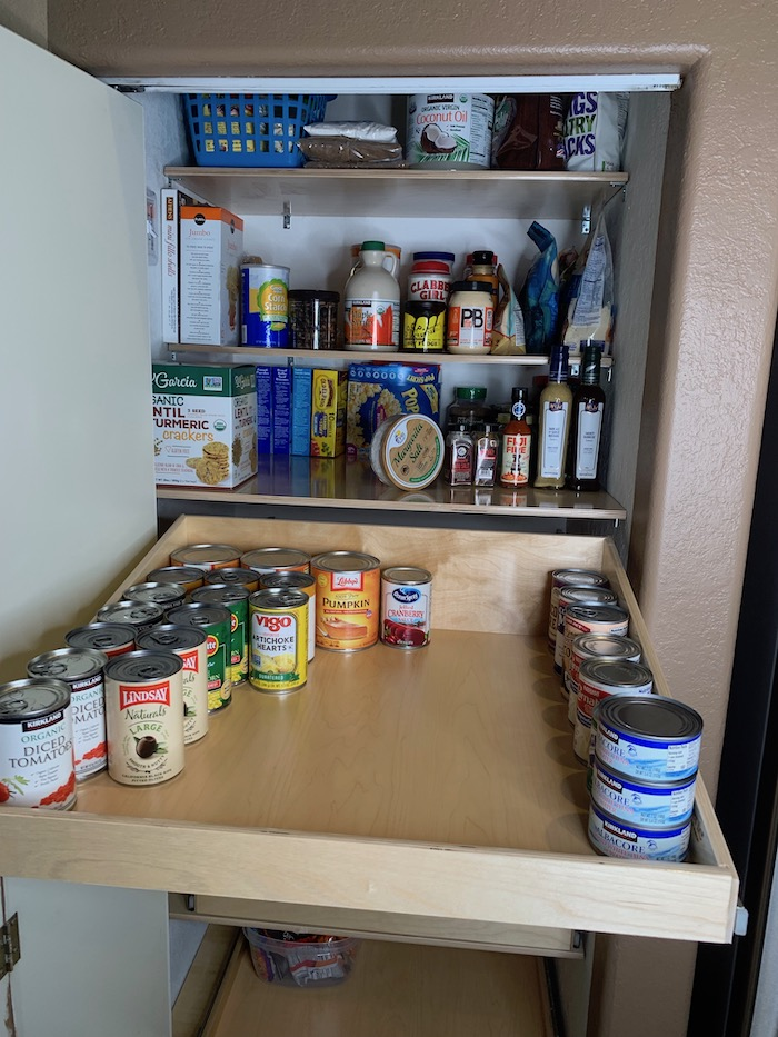 ShelfGenie smart pantry organization with pullout shelves