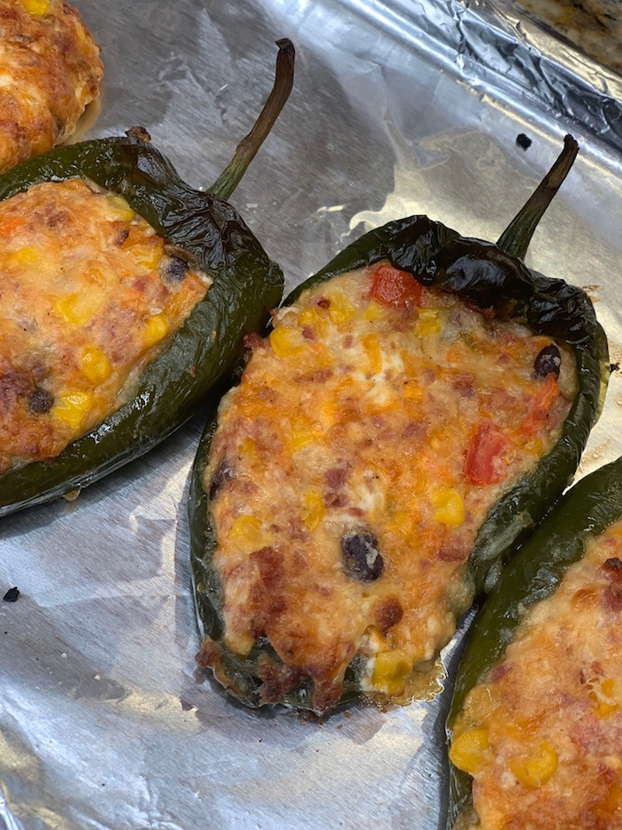 Chicken and Cheese Stuffed Poblano Peppers recipe
