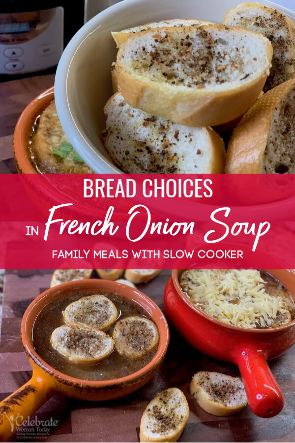 Bread choices in classic french onion soup recipe