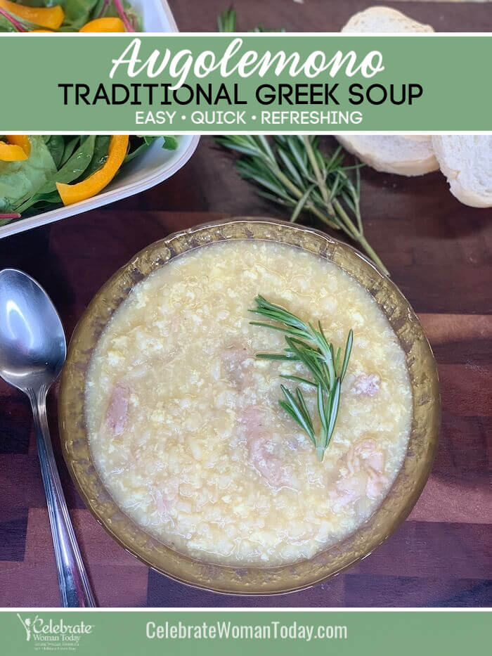 Traditional Greek Avgolemono Soup recipe