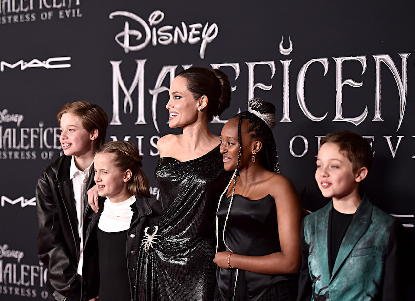 Angelina Jolie and kids at Maleficent 2 World Premiere