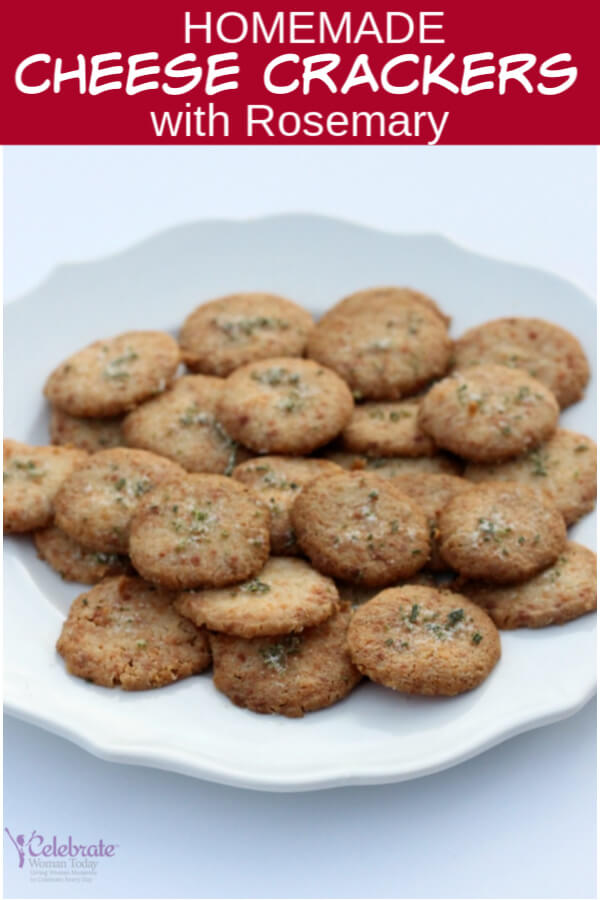 Cheese crackers with rosemary