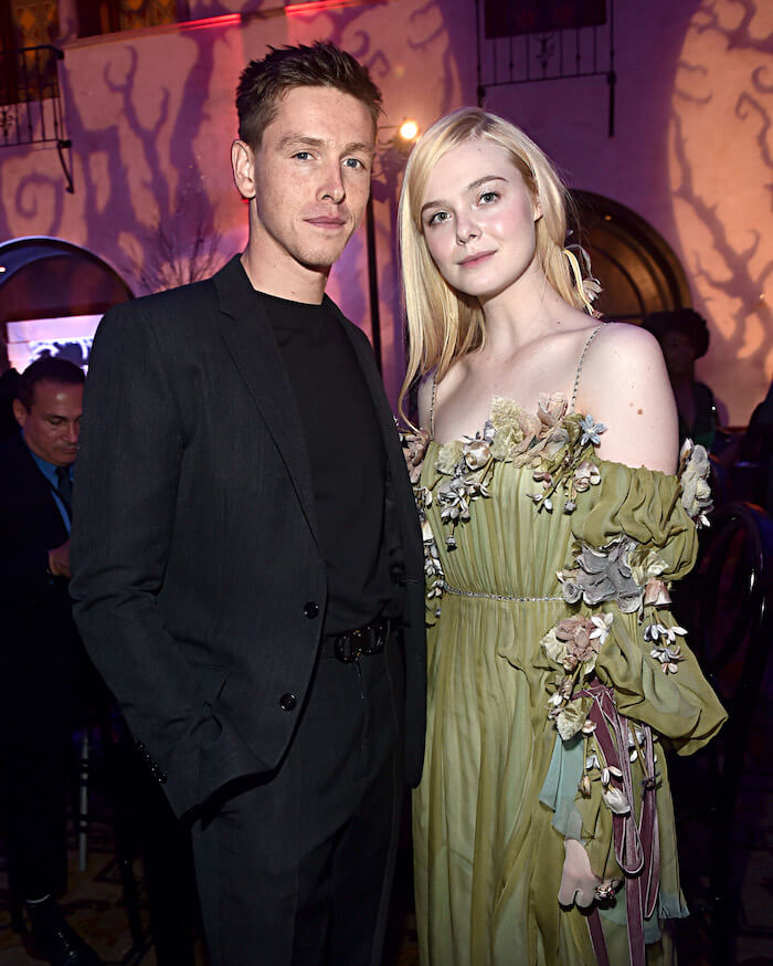 Actors Harris Dickinson and Elle Fanning at Disney Maleficent 2 Mistress of Evil World Premiere