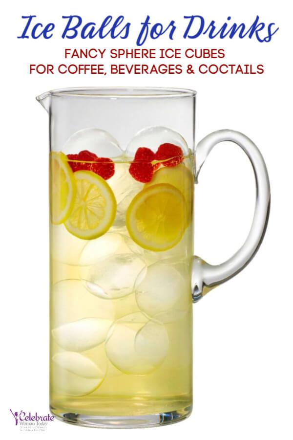 creative drinks with ice ball