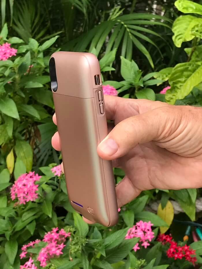 Shiny Rose Gold Battery Powered Charging Case gift ideas for women