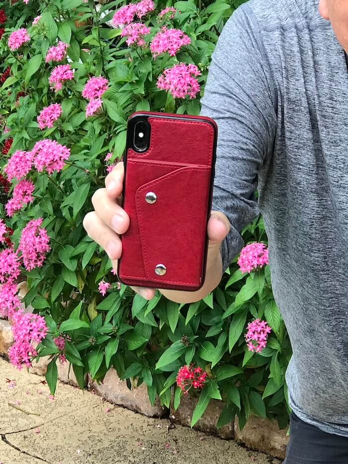 Casely Red Snap Wallet iPhone Case