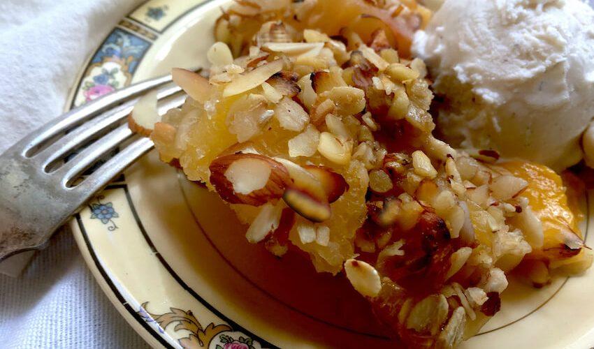 Healthy Mango Crisp Crumble Pie Dessert Recipe