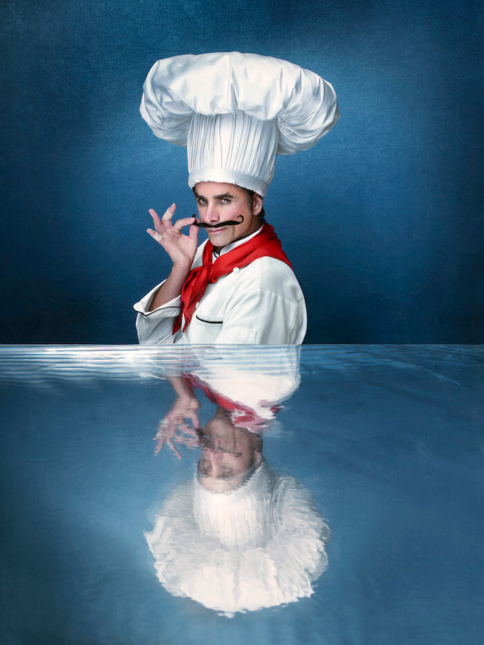 John Stamos as Chef Louis in The Little Mermaid Live!