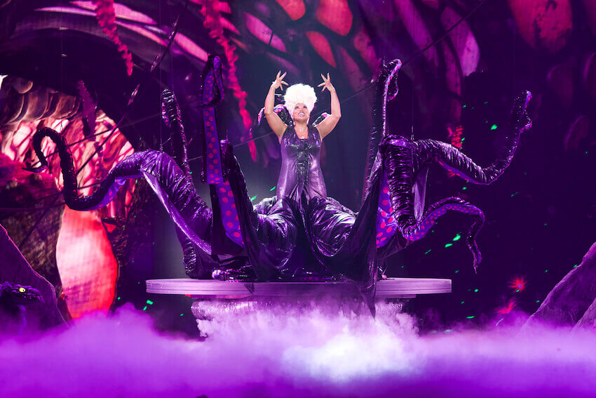 Ursula's magic in The Little Mermaid LIVE