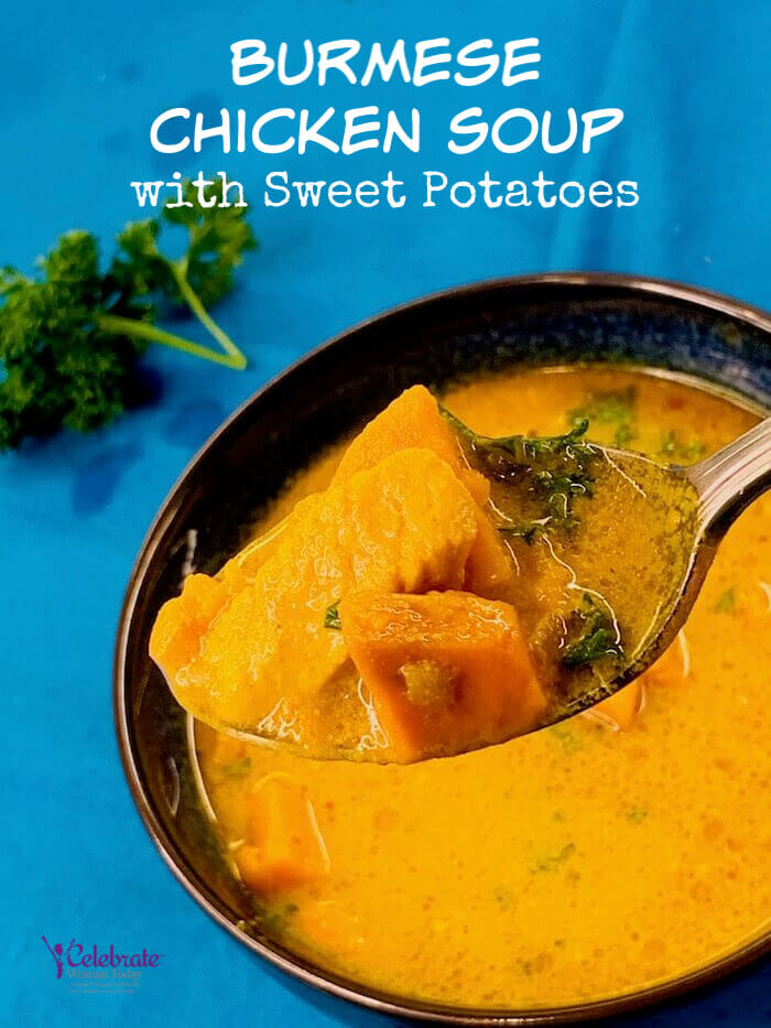 Burmese Chicken Soup with Sweet Potatoes