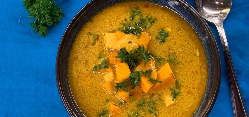 Burmese Chicken Soup With Sweet Potatoes And Spices