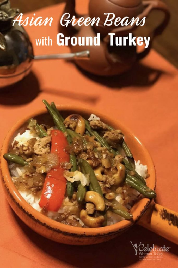 Homemade Asian Green Beans with Ground Turkey