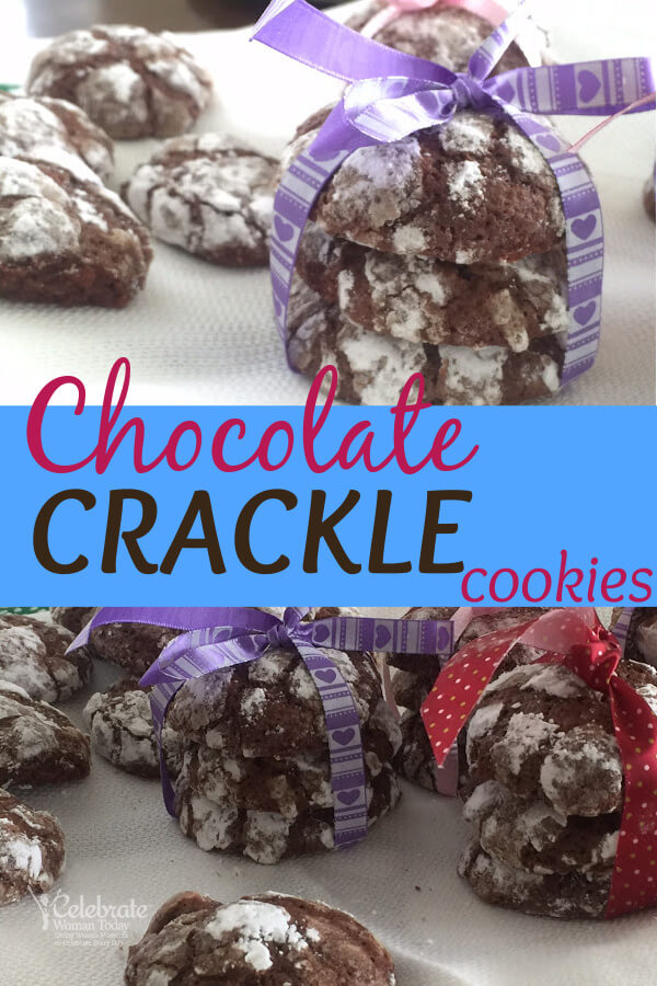 chewy chocolate crackle cookies