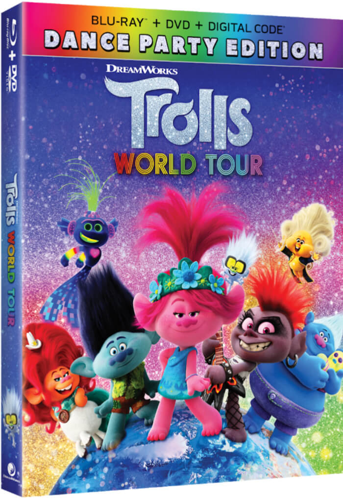 Trolls World Tour Dance Edition blu-ray DVD