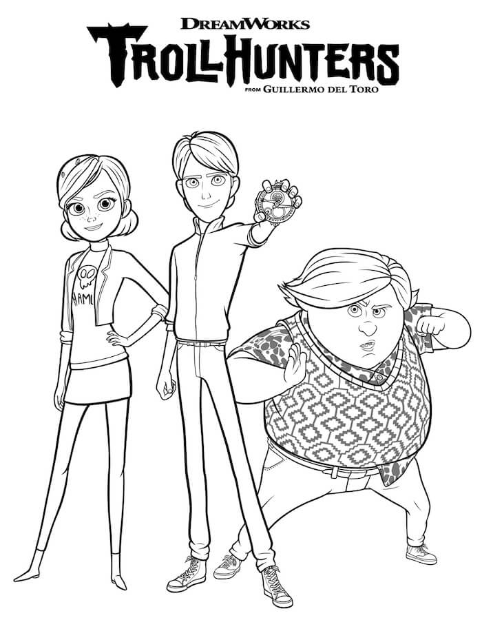 Trollhunters Coloring Pages for family movie night ideas