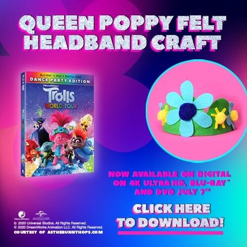 Queen Poppy Felt Headband Craft