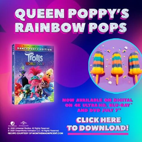 Queen Poppy Rainbow Pops recipe