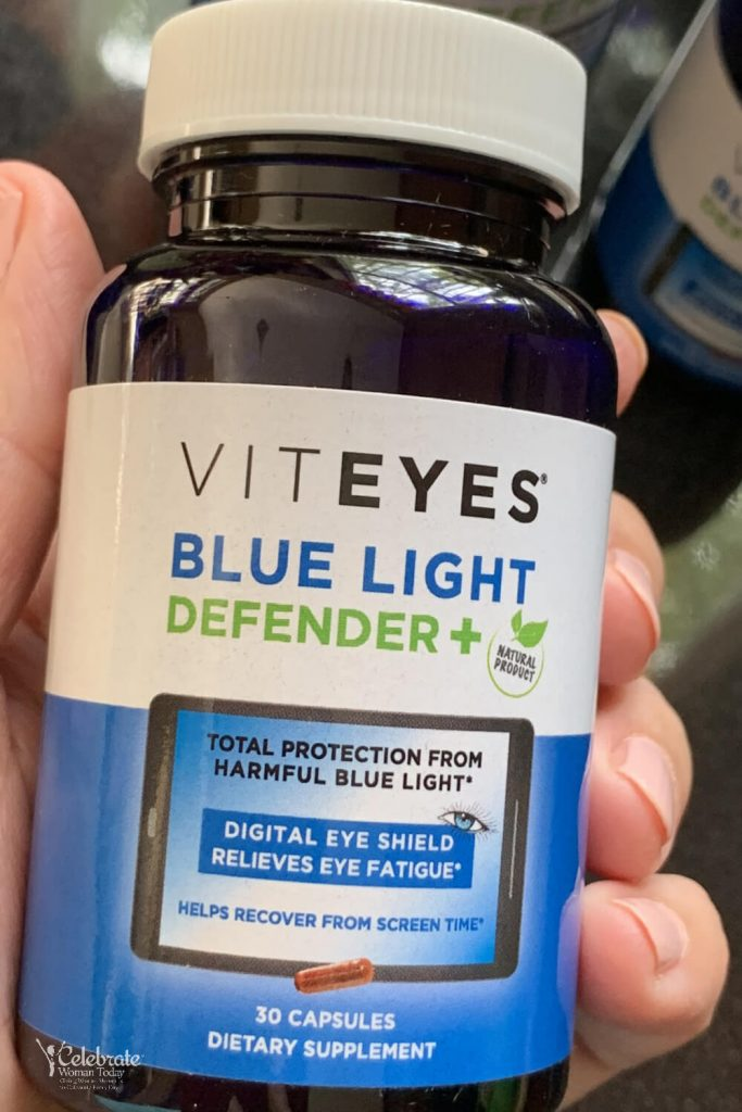 Blue light eye supplement capsules