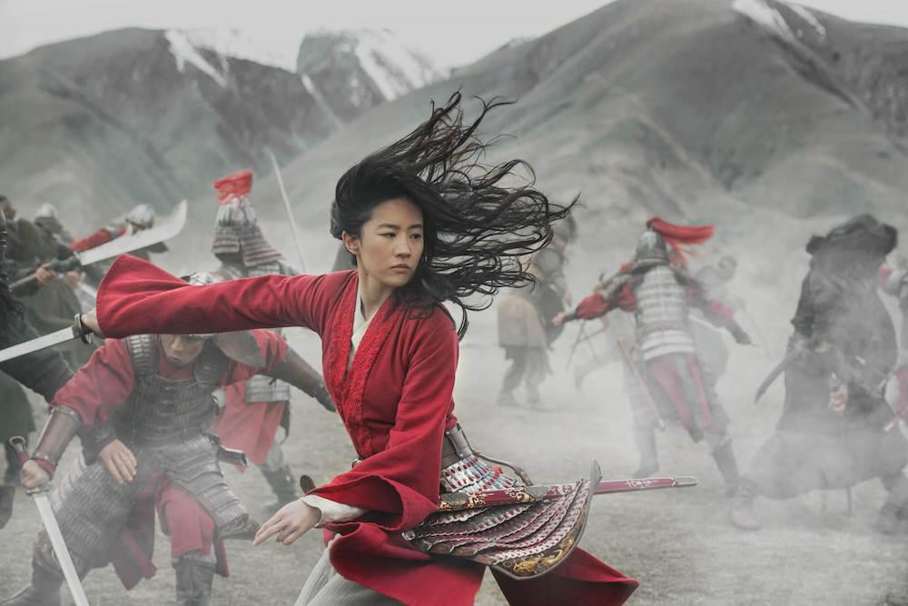 Mulan fighting in a battle