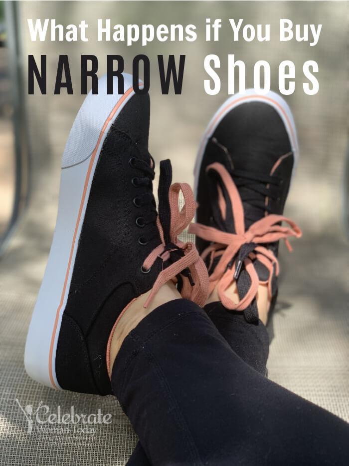 health effects of wearing narrow width women's shoes