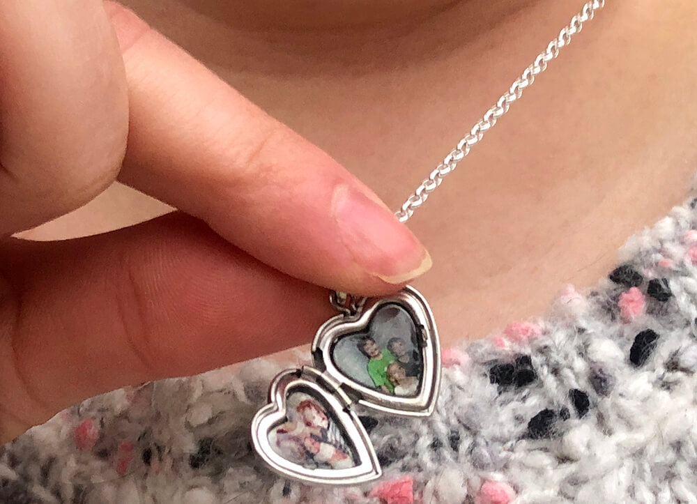 two sided picture locket