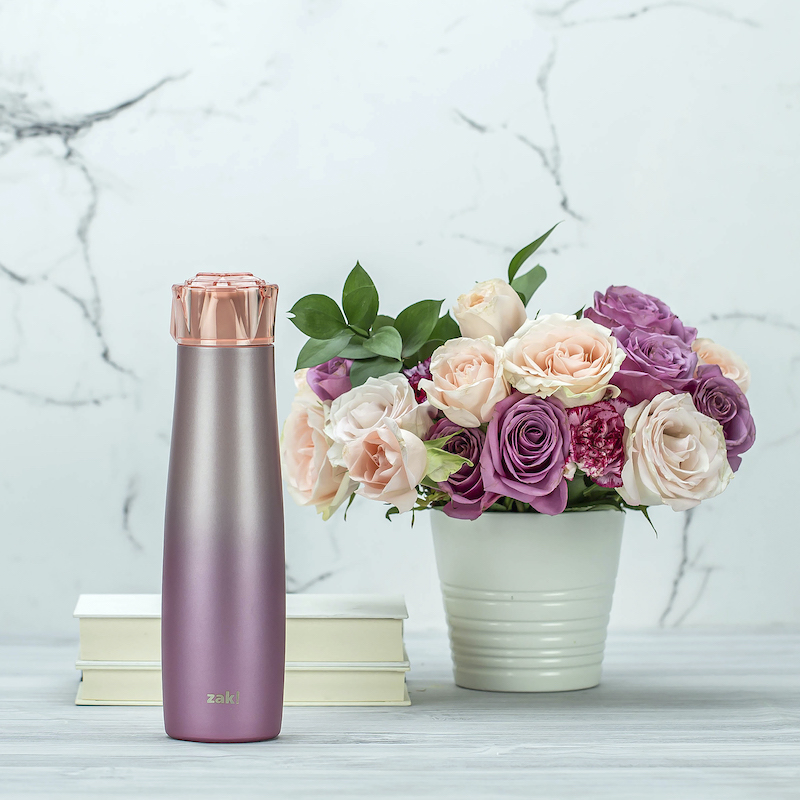 insulated stainless steel water bottle pink diamond